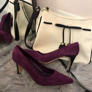 Brooks Brothers Classic Plum/Purple Suede Pump